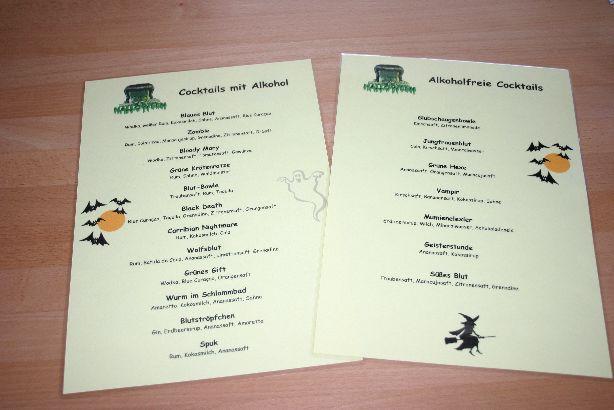 Cocktailkarte Selbst Gestalten.Halloween Party Rezepte Cocktails Und Ideen Zur